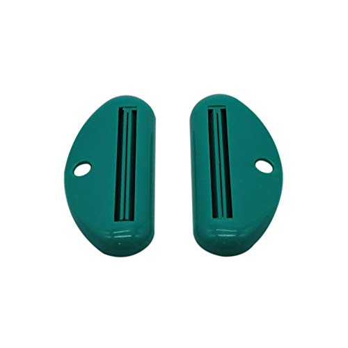 Hot Sale!DEESEE(TM)2pcs Bathroom Home Tube Rolling Holder Squeezer Cartoon Toothpaste Dispenser (Green) (Toothpaste Pizza)