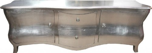 Casa Padrino Long Baroque Chest Drawers Tv Cabinet Sideboard Silver