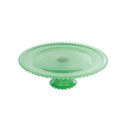 Boleira De Vidro Com Pe 25 Cm Verde