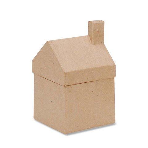 Bulk Buy: Darice DIY Crafts Paper Mache House Box 3-1/2 x 6-1/4 x 3-5/8 in (6-Pack) (Papier Mache House)