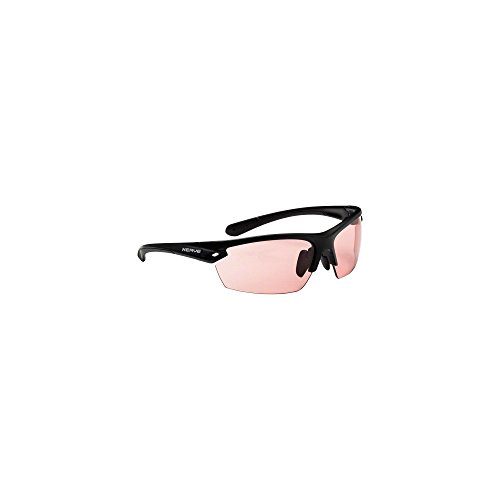 (Optic Nerve Photochromatic Half Frame Polarized Sports Sunglasses, Color Changing Lens with UV400 Protection, Voodoo PM - Matte Black with Rose and Smoke Lens)