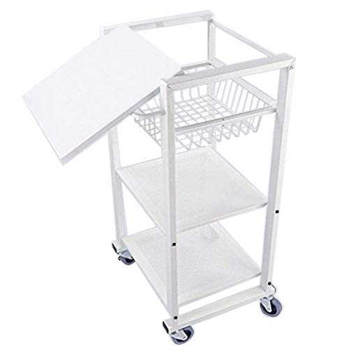 Cheap Home Metal Rolling Cart Trolly Kitchen Storage Utility Cart Serving Cart Dining Cart, White
