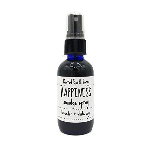 Lavender Sage Smudge Spray 2 oz, Happiness Room and Body Mist, Smudging, Energy Cleansing ()