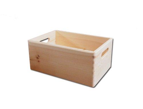 6 x Plain Unpainted Wooden Tool Box DIY Storage Chest with Handles/ Toy Box - 30x 20x 14cm HomeDecoArt