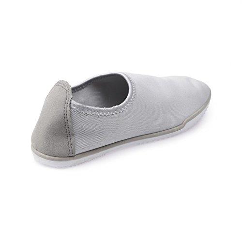 La Modeuse zapatillas-slip-on unidos en lienzo Gris - gris