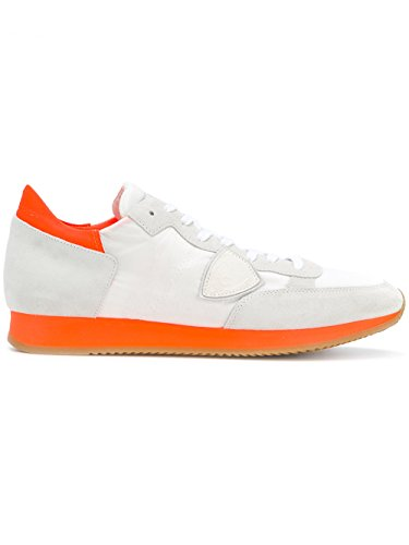 Philippe Model Women's Trainers White White/Orange komdzqaqT