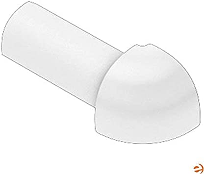 Schluter RONDEC Bright White Coated PVC for 3//8 Thick Tile 90 Degree Outside Corner