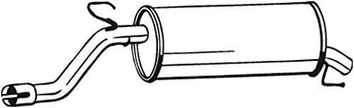 Endschalld/ämpfer 1220-17047 D/ämpfer Abgasanlage