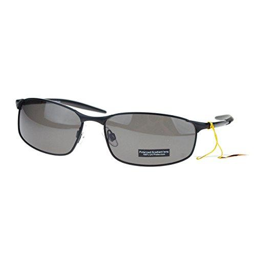 Polarized Mens Minimal Metal Frame Narrow Rectangular Sport Sunglasses - Sunglasses Minimal