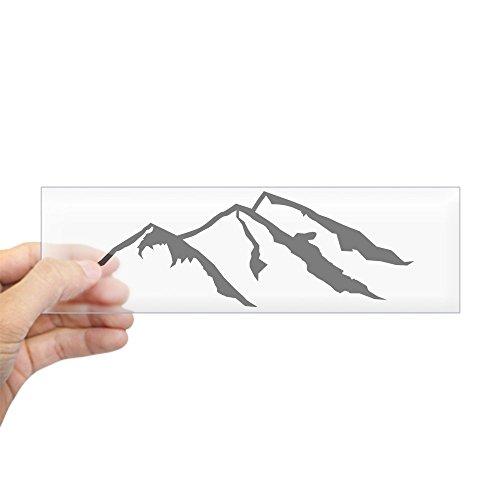 "CafePress Mountains Sticker (Bumper) 10""x3"" Rectangle Bumper Sticker Car Decal"