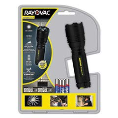 Spectrum/Rayovac RNT3AAA-B Roughneck LED Flashlight, Metal, 3 Function Modes - Quantity 4