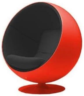 Adelta Ball Chair Lounge Sessel, schwarz Tonus 128 Gehäuse