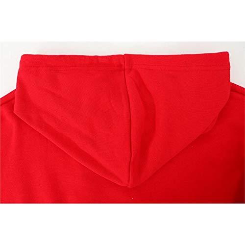 Señoras Chica Imprimir Suelta Rojo Las Y Tops Moda Calientes Avatar De Larga Manga Cálido qwYx1It
