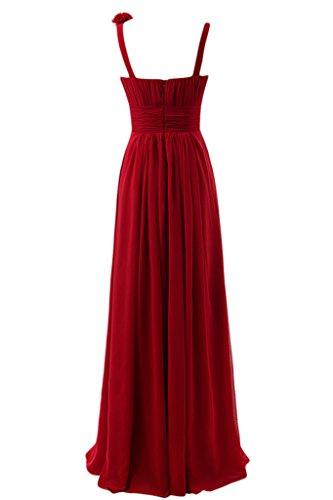 sunvary gasa para espaguetis correas corazones vestidos de dama de honor vestidos de fiesta Prom Fiesta Sandía