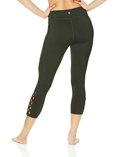 Gaiam Women's Capri Yoga Pants - Performance Spandex Compression Legging - Dufflebag, X-Large by Gaiam (Image #3)