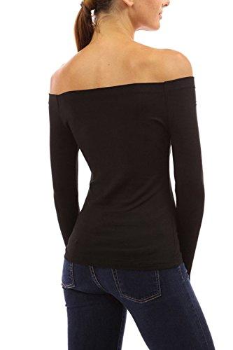 Mujeres del debe de manga larga camisa Casual