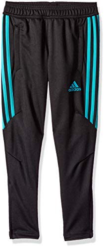 adidas Youth Soccer Tiro 17 Training Pant, Black/Hi-Res Aqua