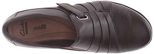 Clarks Womens Everlay Luna Slip-on Loafer, Dark Brown Leather, 8 M US