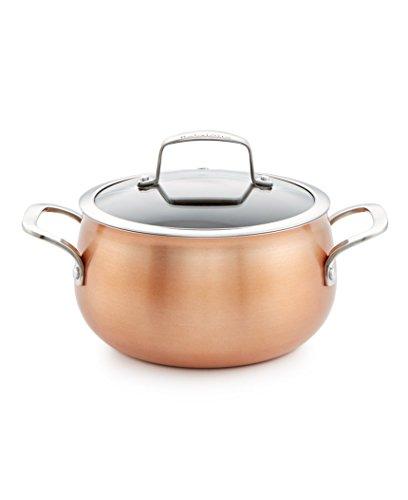 Belgique Copper Soup Pot With Lid, 3 Quart (Belgique Stainless Steel 11 Pc Cookware Set)