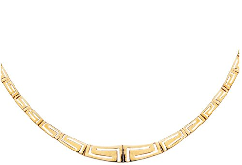 14kt Yellow Gold Greek Key Necklace