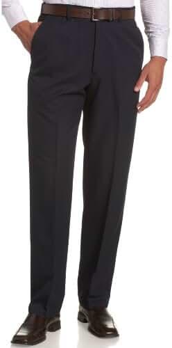 Haggar Men's Big & Tall Cool 18 Hidden Expandable-Waist Plain-Front Pant
