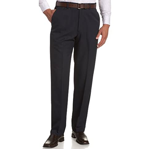 haggar men's cool 18 hidden expandable-waist plain-front pant - 31KiXdBBznL - Haggar Men's Cool 18 Hidden Expandable-Waist Plain-Front Pant
