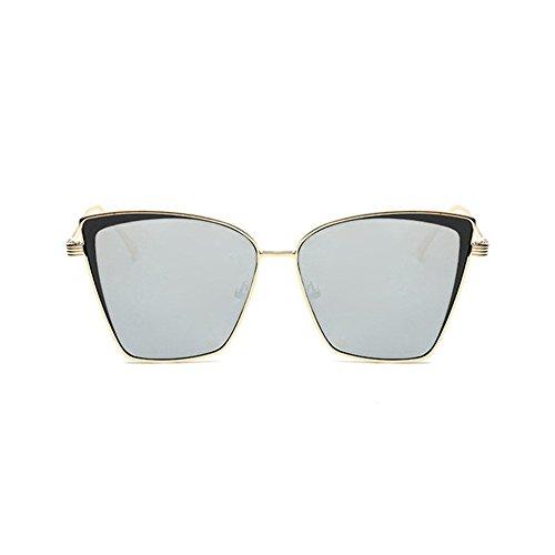 Aoligei Yeux de chat Europe tendance lunettes de soleil rétro grosse boîte couleur lumineuse film lunettes de mode j69eT1TV