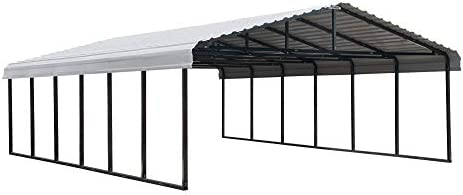 Arrow 20 x 29 29-Gauge Metal Carport with Steel Roof Panels, 20 x 29 , Eggshell