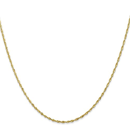 14k Yellow Gold 1.5mm Diamond-Cut Light Rope Chain Necklace 14'' by Venture Jewelers