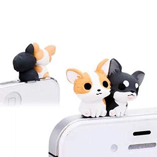 - ZOEAST Adorable Corgi Chihuahua Pomeranian Doggie Dust Plug 3.5mm Smart Phone Headphone Jack Earphone Cap Ear Cap Dust Plug Charm iPhone 4 4S 5 5S 6 6S Plus HTC Samsung IPad iPod etc (Corgi)