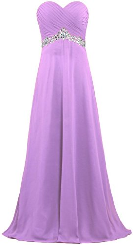 Bridesmaid Dress Bridal Anna's Long Bead Women's Chiffon Lilac Dresses Prom wZnHOqXn8