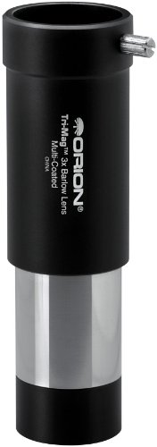 Orion 08704 Tri-Mag 1.25-Inch 3x Barlow Lens (Black)