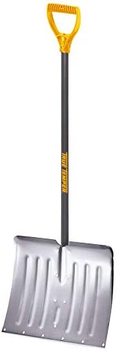 True Temper 1641000 18 in. Aluminum Snow Shovel with D-Grip Steel Handle, 18 Inch