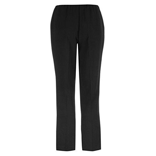 Mystify Collection Mujer Confort Pantalones Elástico Bootleg Fondo Deporte Ropa Negro