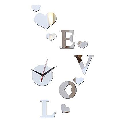 Clocks CC Reloj de pared diy moda relojes baratos inicio acrílico espejo salón moderno de cuarzo