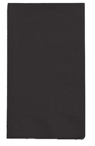 Creative Converting 67134B Touch of Color 2-Ply 50 Count Paper Dinner Napkins, Black Velvet