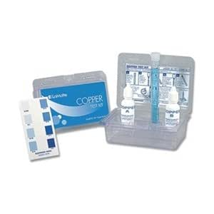 Water testing kit copper to 1 0 ppm swimming pool liquid test kits for Swimming pool test kits amazon