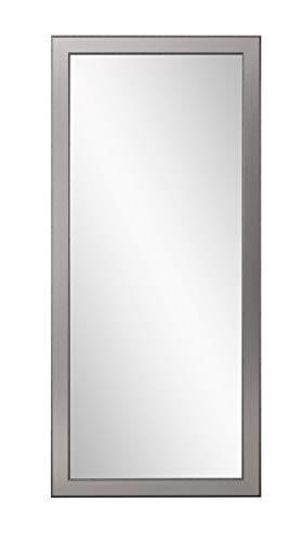 BrandtWorks BM12floor Mod Euro Silver Floor Mirror, 71 x 32, Brushed