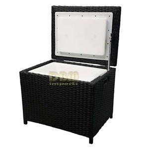 Amazon Com Portable Resin Wicker Cooler Ice Chest Patio