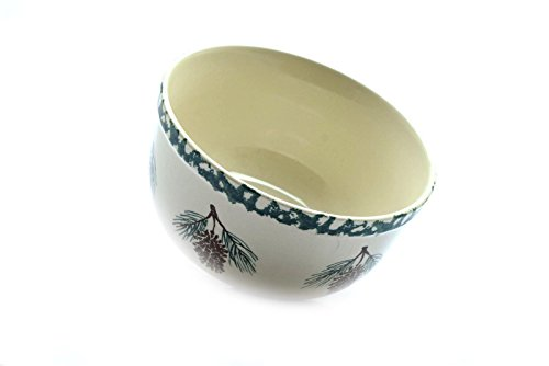 - Folk Craft Tienshan Pine Cone Large Cereal Soup Salad Bowl