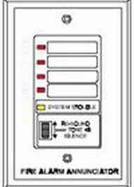 FIRELITE RZA-4XF Remote Annunciator, 4 Alarm - 1 Trouble, Requires 4XLMF Driv Annunciator Fire Alarm
