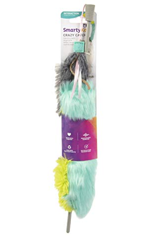 SmartyKat Crazy Catch Crinkle and Catnip Wand Cat Toy