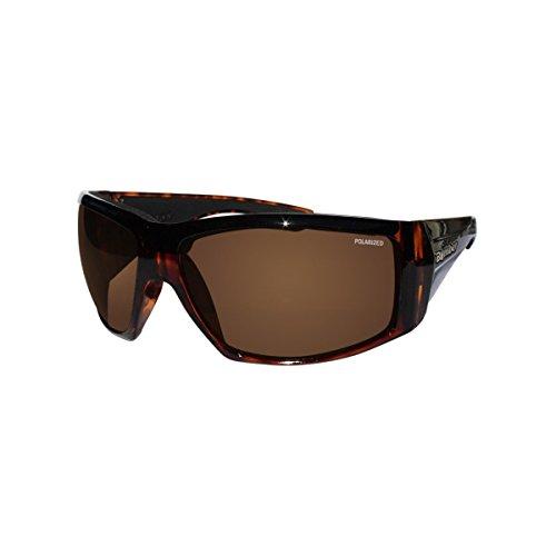 Tortoise Glass Shiny Amber (Bomber Sunglasses - Ahi Bomb Shiny Tortoise Frm / Brown Polarize Lens / Black Foam)