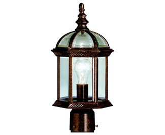 KICHLER  9935TZ One Light Outdoor Post Mount