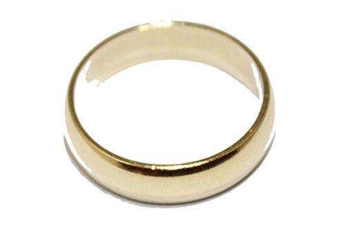 Diamantados of Fla Liso Anillo DE Banda DE Boda 18K Chapado en Oro Anillo tamaño 7–Ajuste cómodo–Anillo de...