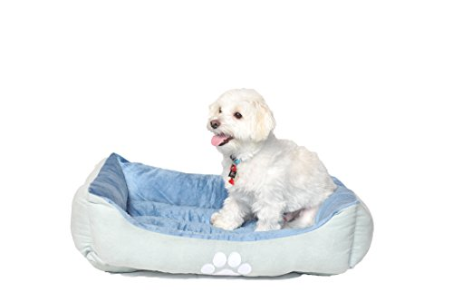 HappyCare-Textiles-Reversible-Rectangle-Pet-Bed-with-Dog-Paw-Printing-Medium-size
