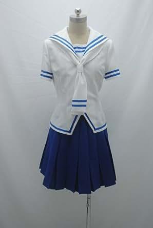 Fruits Basket Tohru Honda Cosplay Costume White&blue Dress