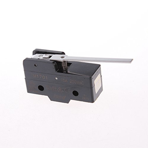 GUWANJI TM-1701 15A Micro Limit Switch Long Lever Arm SPDT Snap Action Home