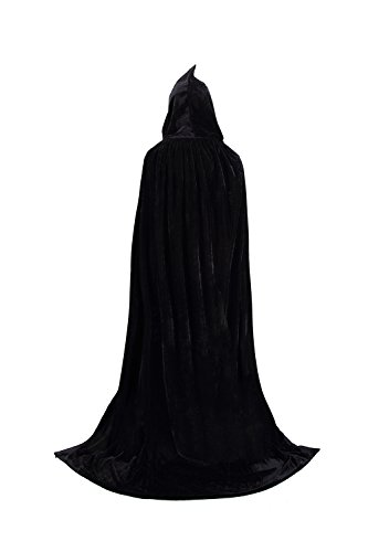 (TULIPTREND Full Length Hooded Cloak Christmas Halloween Cosplay Costume CapeUS M (tag size L (L=150cm)