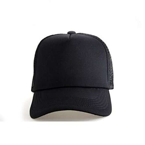 Voberry Mesh Baseball Cap Hat Blank Curved Visor Hat Adjustable Pure Color ( Black) at Amazon Men s Clothing store  297555e4233